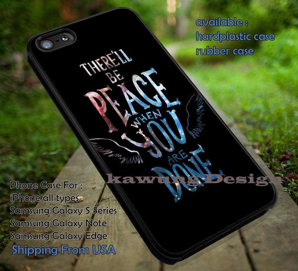 Cast Angel Quote Castiel iPhone 6s 6 6s+ 6plus Cases Samsung Galaxy s5 s6 Edge+ NOTE 5 4 3 #quote ii - Kawung Design  - 1