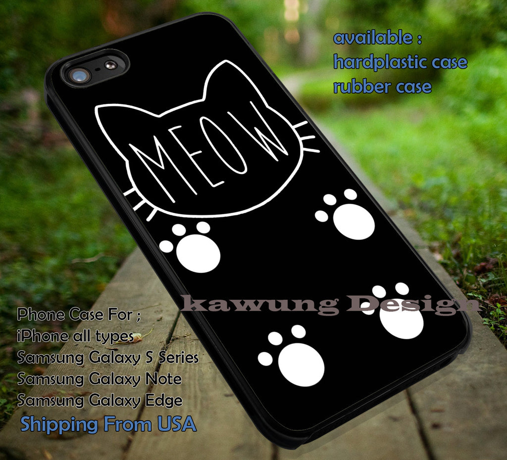 Cat Feline Meow iPhone 8+ 7 6s Cases Samsung Galaxy S8 S7 edge NOTE 8 5 4