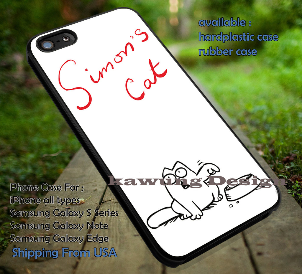 Hungry Simons Cat iPhone X 8+ 7 6s Cases Samsung Galaxy S8 S7 edge NOTE 8 5 4