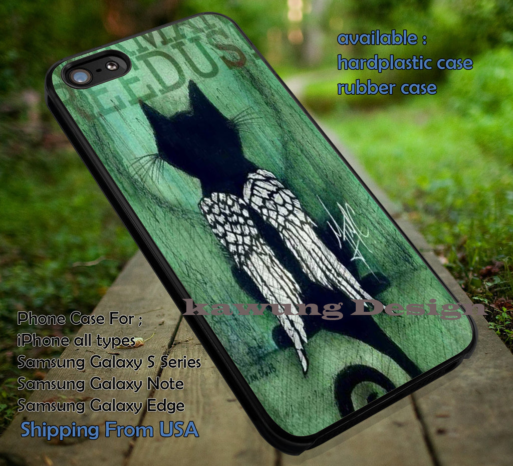 Cat Wings Daryl Dixon iPhone 6s 6 6s+ 6plus Cases Samsung Galaxy s5 s6 Edge+ NOTE 5 4 3 #movie #walkingdead ii - Kawung Design  - 1