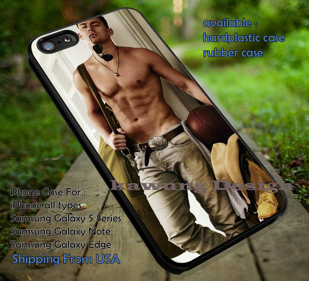 Channing Tatum Sexy iPhone 6s 6 6s+ 6plus Cases Samsung Galaxy s5 s6 Edge+ NOTE 5 4 3 #movie #actor #cnt ii - Kawung Design  - 1
