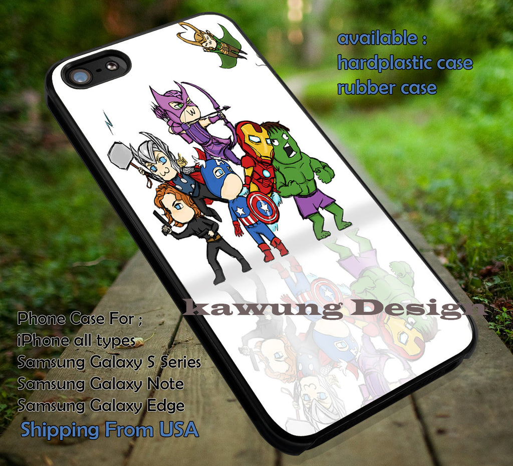 Chibi Avenger on Stage iPhone X 8+ 7 6s Cases Samsung Galaxy S8 S7 edge NOTE 8 5 4