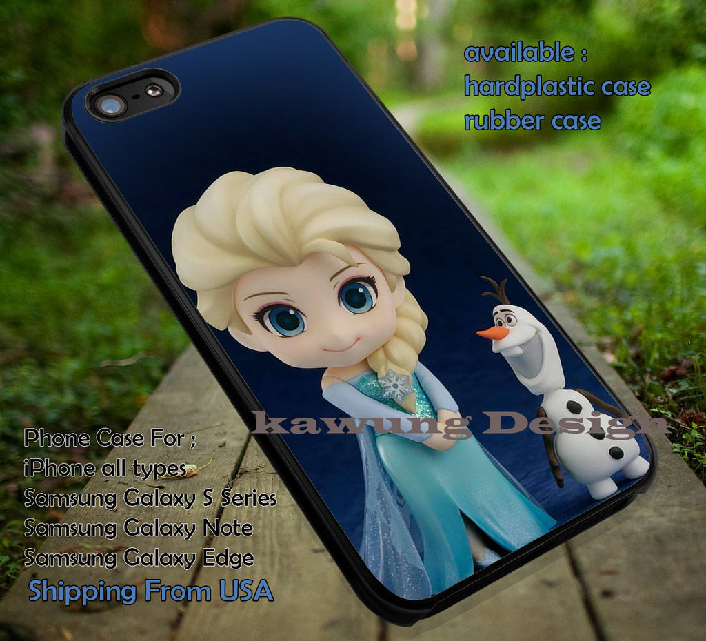 Chibi Princess of Ice case/cover for iPhone 4/4s/5/5c/6/6+/6s/6s+ Samsung Galaxy S4/S5/S6/Edge/Edge+ NOTE 3/4/5 #cartoon #disney #animated  #frozen ii - Kawung Design  - 1