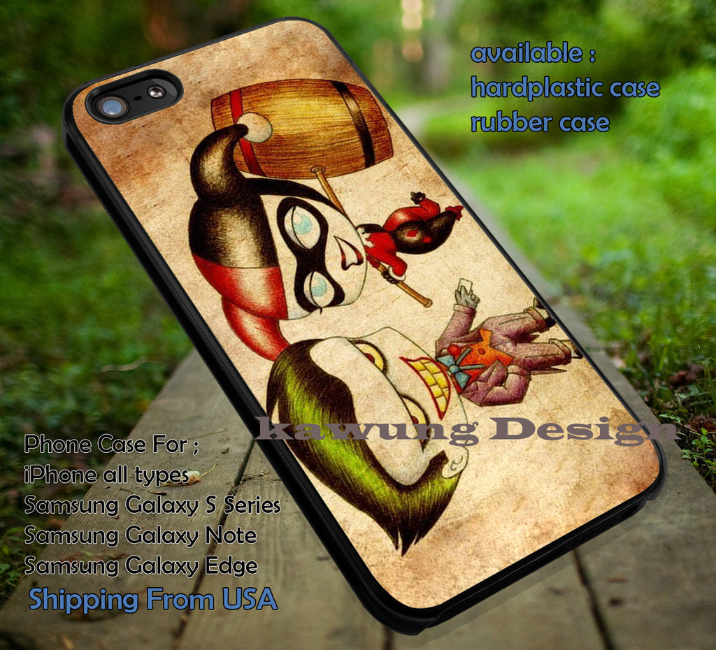 Chibi the Villain, Joker and Harley, Harley Quinn, Batman, Superman, case/cover for iPhone 4/4s/5/5c/6/6+/6s/6s+ Samsung Galaxy S4/S5/S6/Edge/Edge+ NOTE 3/4/5 #cartoon #animated #superheroes ii - Kawung Design  - 1