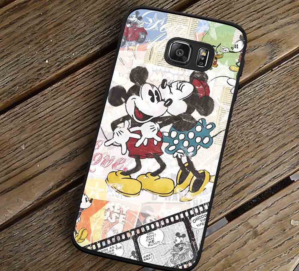 Classic Mouse Couple Kissing Samsung Galaxy s3 s4 s5 s6 Edge+ NOTE 5 4 3 Cases #cartoon #animated #disney #MickeyMouse lk - Kawung Design  - 1