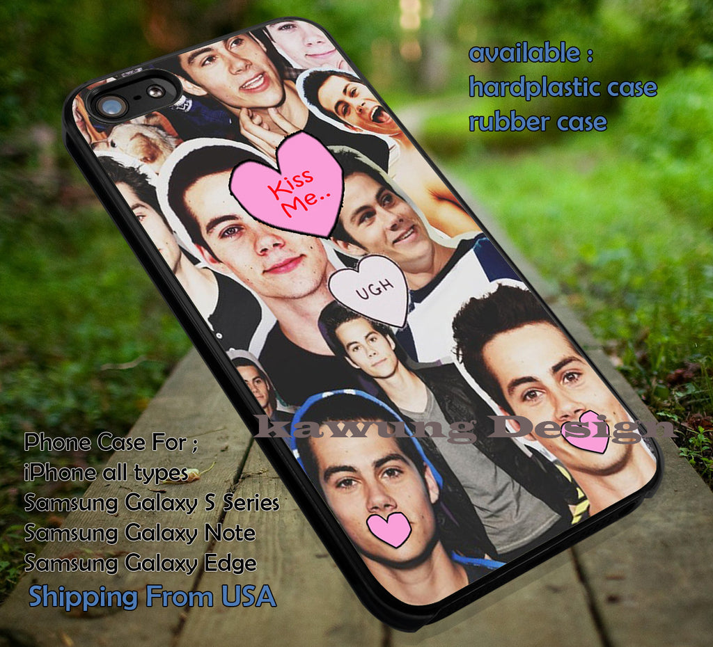 Collage 2 Dylan O'brien | Love | Teenwolf iPhone 6s 6 6s+ 6plus Cases Samsung Galaxy s5 s6 Edge+ NOTE 5 4 3 #movie #TeenWolf ii - Kawung Design  - 1
