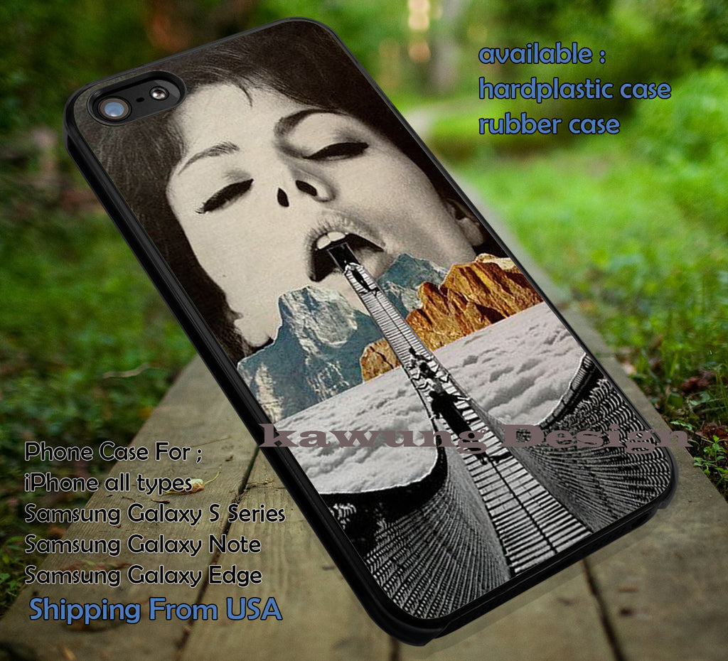 Collage Art Bridge Mouth iPhone 6s 6 6s+ 6plus Cases Samsung Galaxy s5 s6 Edge+ NOTE 5 4 3 #art ii - Kawung Design  - 1