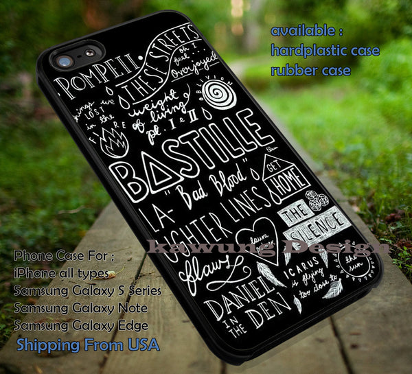 Collage band, bastille, song collage, arctic monkeyarc, arctic monkeys, case/cover for iPhone 4/4s/5/5c/6/6+/6s/6s+ Samsung Galaxy S4/S5/S6/Edge/Edge+ NOTE 3/4/5 #music #arc #cartoon  ii - Kawung Design  - 1