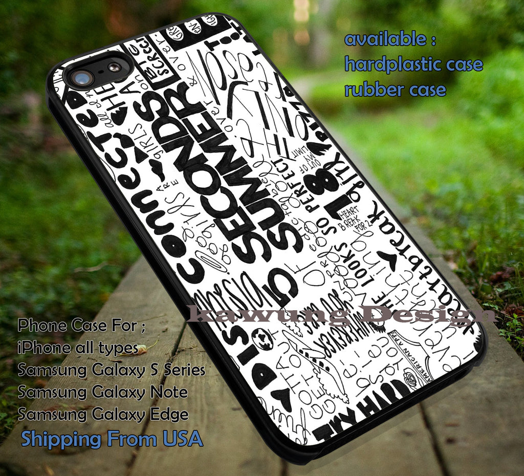 collage black and white art fans, 5sos, calum hood, ashton irwin, 5 Second of Summer, case/cover for iPhone 4/4s/5/5c/6/6+/6s/6s+ Samsung Galaxy S4/S5/S6/Edge/Edge+ NOTE 3/4/5 #music #5sos ii - Kawung Design  - 1