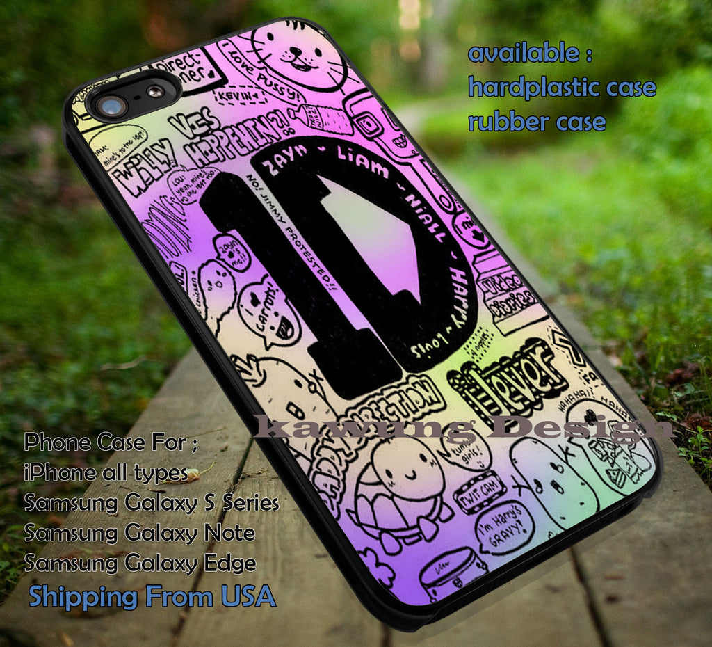 Collage cool drawing art,One Direction,Harry Styles,iphone6 6plus,telphon box,england case/cover for iPhone 4/4s/5/5c/6/6+/6s/6s+ Samsung Galaxy S4/S5/S6/Edge/Edge+ NOTE 3/4/5 #music #1d ii - Kawung Design  - 1