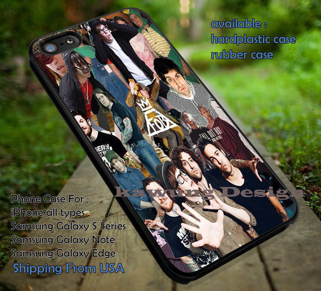 collage cute boy,  FOB, fall out boy, case/cover for iPhone 4/4s/5/5c/6/6+/6s/6s+ Samsung Galaxy S4/S5/S6/Edge/Edge+ NOTE 3/4/5 #music #fob ii - Kawung Design  - 1