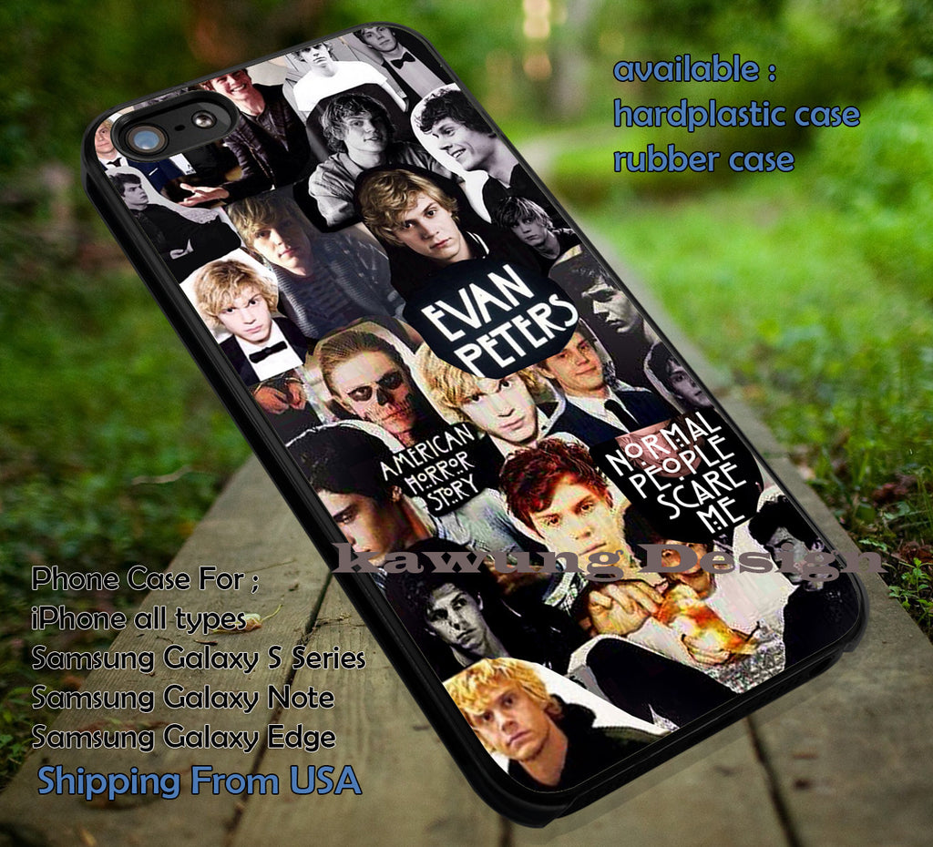 Collage Guy Evan Peters iPhone 8+ 7 6s Cases Samsung Galaxy S8 S7 edge NOTE 8 5 4