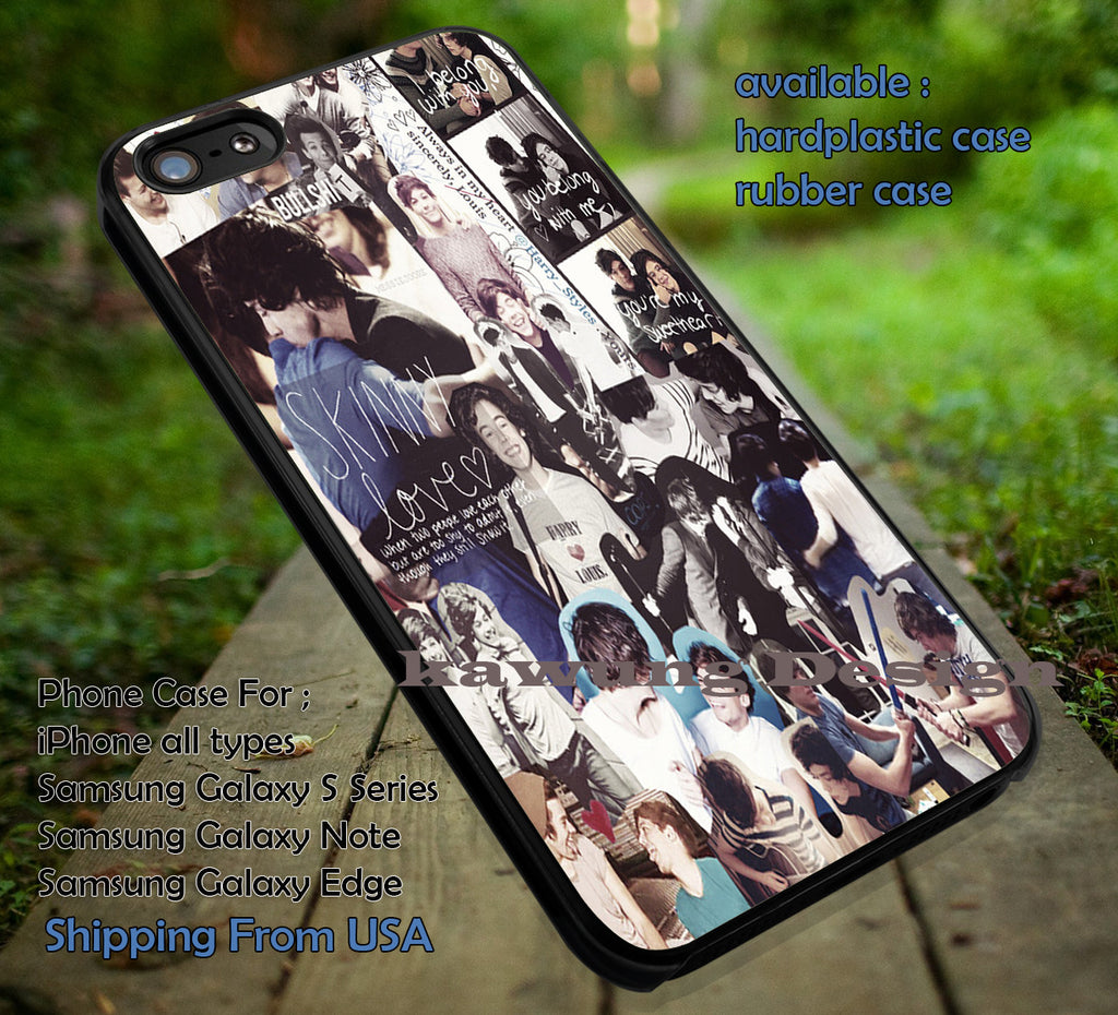 Collage Art Larry Louis Tomlinson Harry Styles One Direction 1D Cases for iPhone 4s/5/5c/6/6plus/6s/6s+ Samsung Galaxy S3/S4/S5/S6 Edge+ NOTE 2/3/4/5 Covers #music #1d ii - Kawung Design  - 1