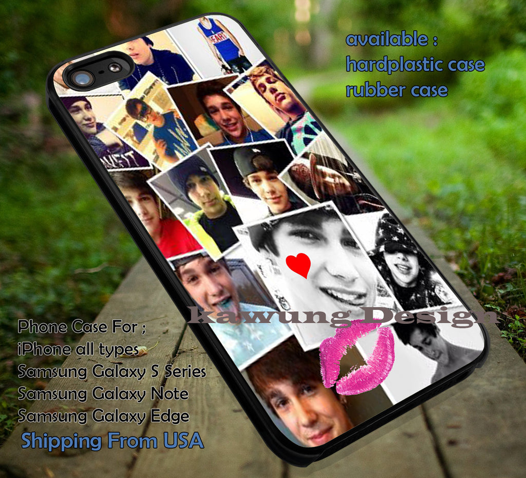 collage of cute singer, Austin Mahone, case/cover for iPhone 4/4s/5/5c/6/6+/6s/6s+ Samsung Galaxy S4/S5/S6/Edge/Edge+ NOTE 3/4/5 #music #astnm ii - Kawung Design  - 1