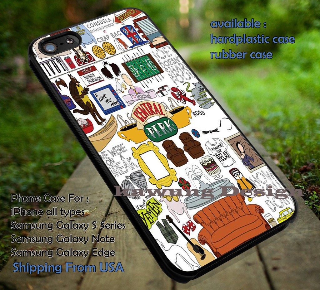 Collage Quote Central Perk iPhone 6s 6 6s+ 6plus Cases Samsung Galaxy s5 s6 Edge+ NOTE 5 4 3 #movie #Friends ii - Kawung Design  - 4