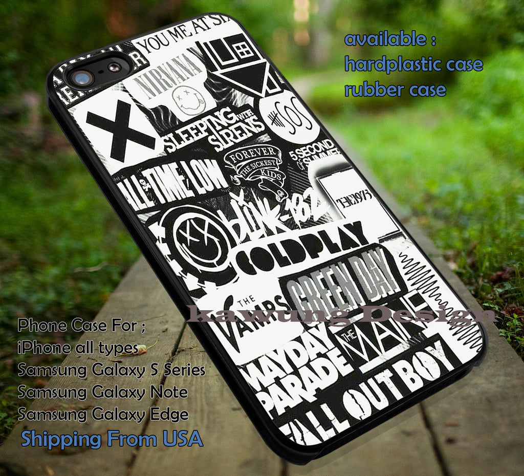 color inverter punks rock bands, 5sos, FOB, sws, sleeping with sirens, case/cover for iPhone 4/4s/5/5c/6/6+/6s/6s+ Samsung Galaxy S4/S5/S6/Edge/Edge+ NOTE 3/4/5 #music #sws #5sos #fob ii - Kawung Design  - 1