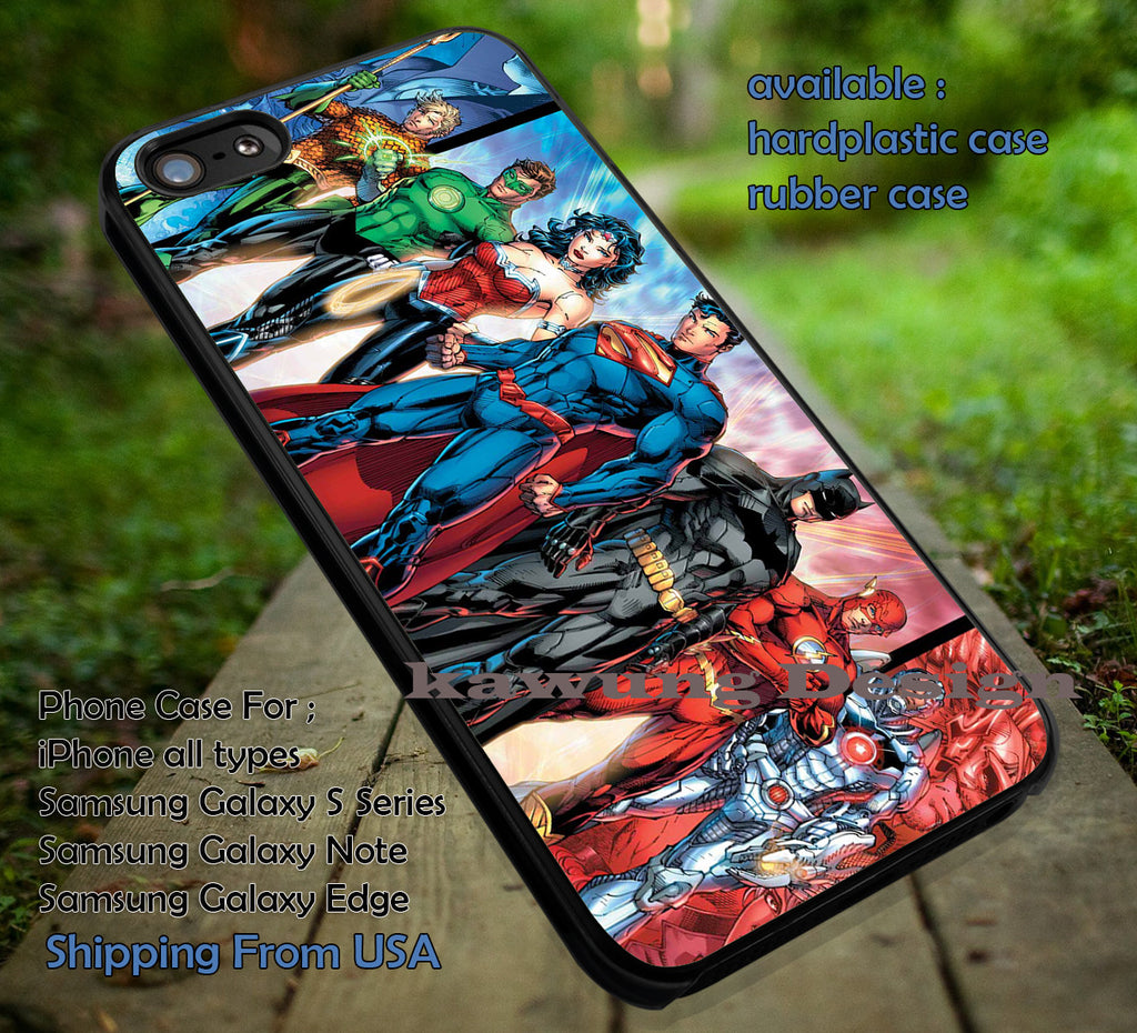 Comic Characters DC Comic case/cover for iPhone 4/4s/5/5c/6/6+/6s/6s+ Samsung Galaxy S4/S5/S6/Edge/Edge+ NOTE 3/4/5 #cartoon #animated #batman #superheroes ii - Kawung Design  - 1