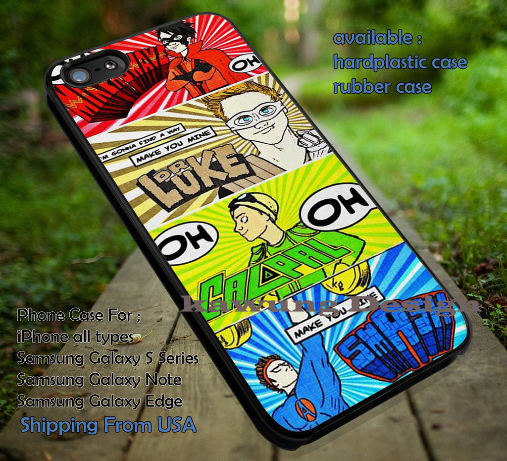 Comics Strip Superhero 5 Sos case/cover for iPhone 4/4s/5/5c/6/6+/6s/6s+ Samsung Galaxy S4/S5/S6/Edge/Edge+ NOTE 3/4/5 #cartoon #music #5sos ii - Kawung Design  - 1