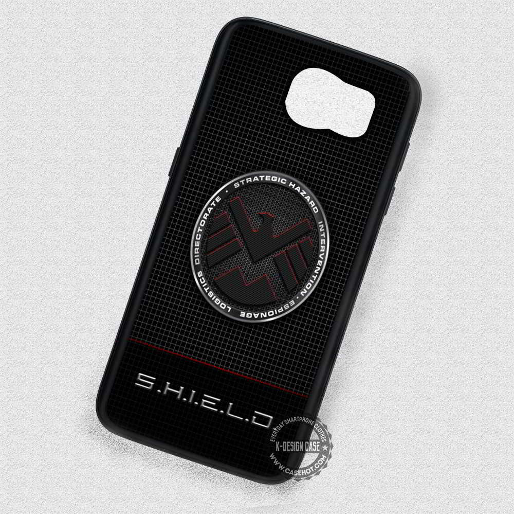 Cool Symbol On Black Shield Samsung Galaxy S7 S6 S5 Note 5 Cases