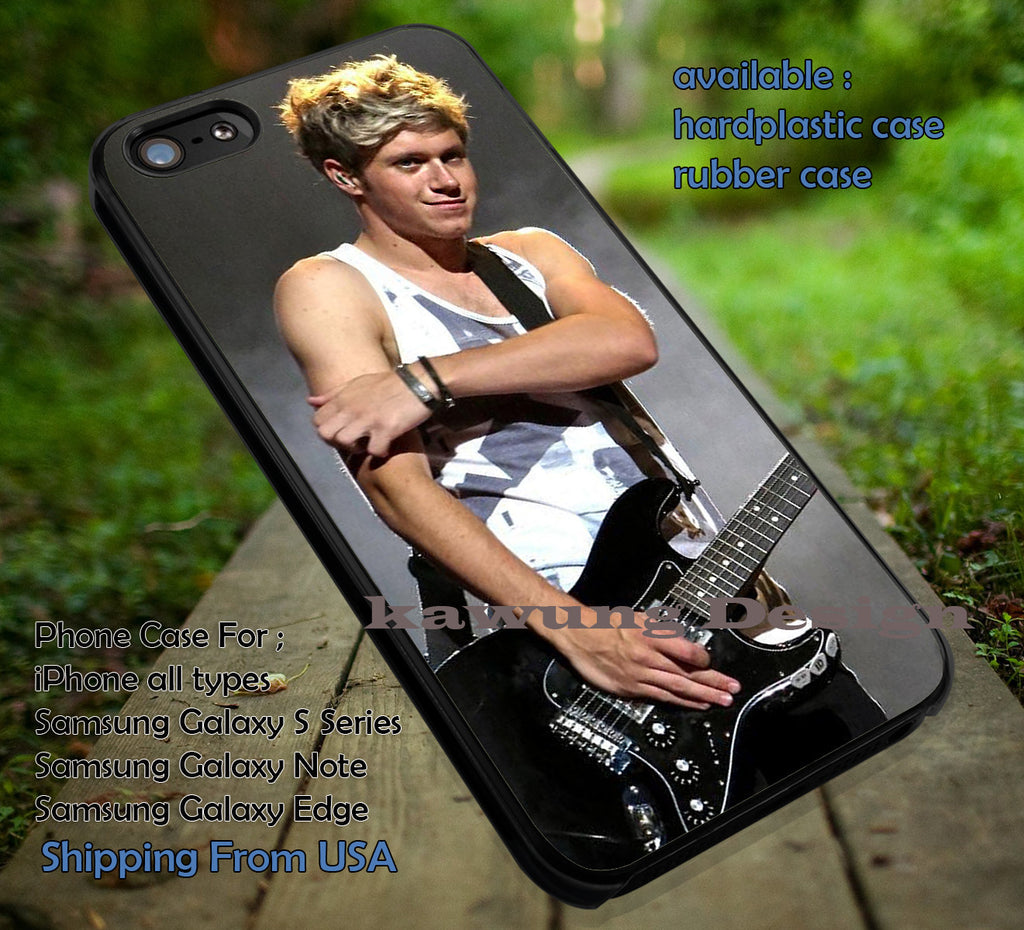 Cool with guitar on stage,Niall Horan,One Direction,1D case/cover for iPhone 4/4s/5/5c/6/6+/6s/6s+ Samsung Galaxy S4/S5/S6/Edge/Edge+ NOTE 3/4/5 #music #1d ii - Kawung Design  - 1