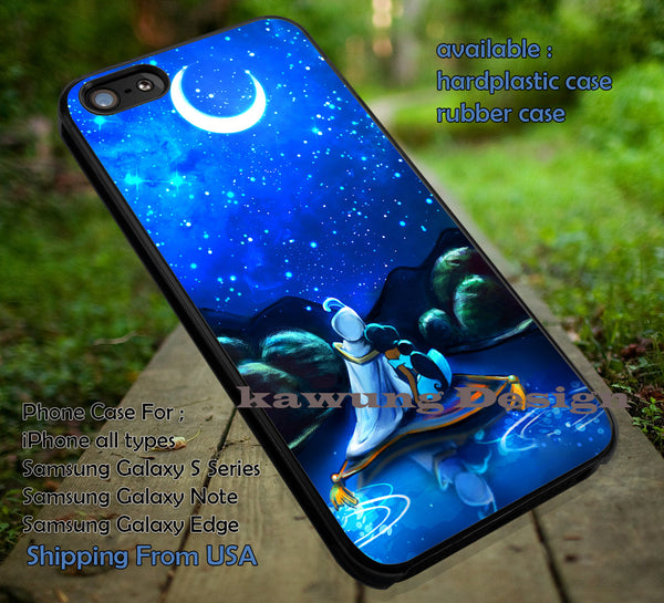 Couple Underneat The Moonlight Jasmine Aladdin case/cover for iPhone 4/4s/5/5c/6/6+/6s/6s+ Samsung Galaxy S4/S5/S6/Edge/Edge+ NOTE 3/4/5 #cartoon #animated #aladdin #disney iin