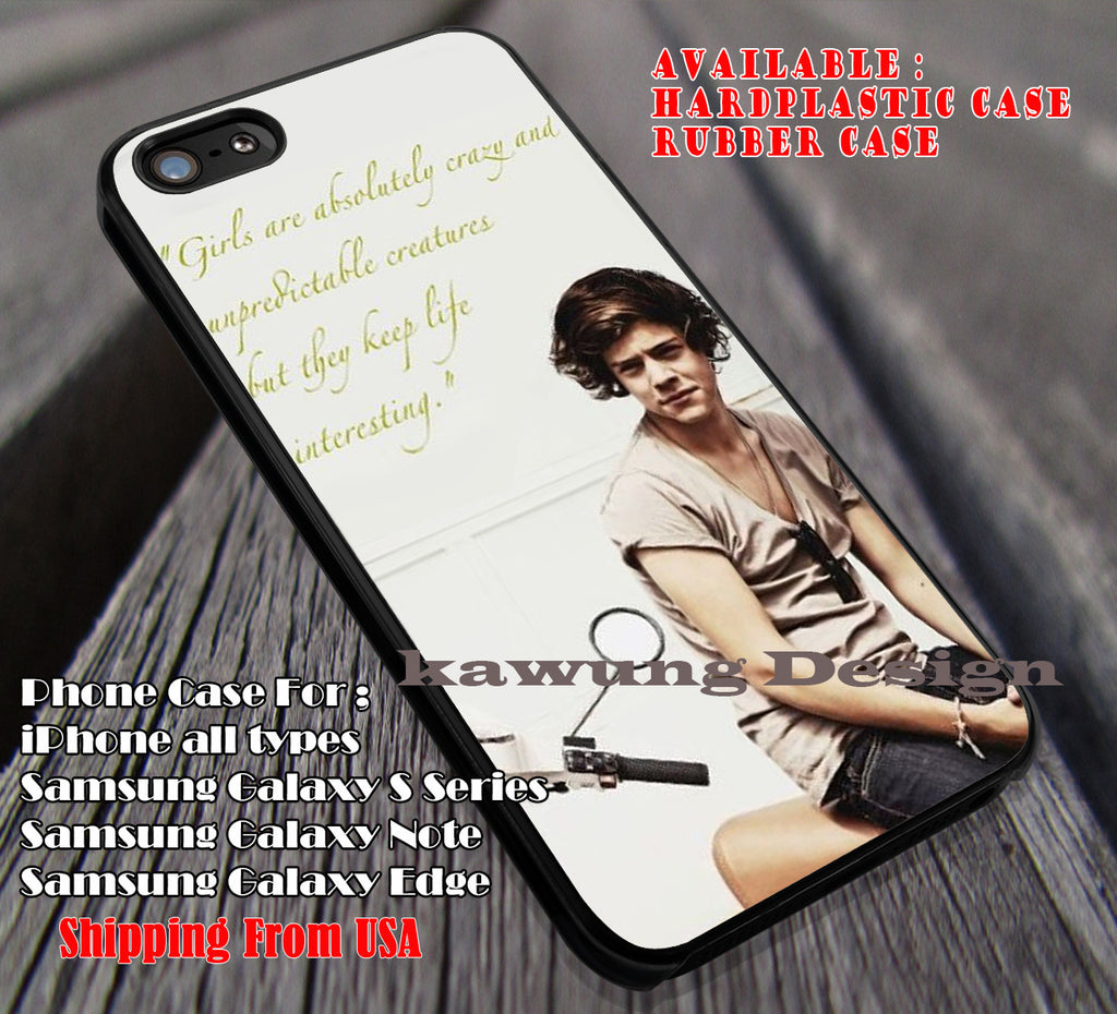 Crazy and Unpredictable Styles Harry Styles iPhone X 8+ 7 6s Cases Samsung Galaxy S8 S7 edge NOTE 8 5 4