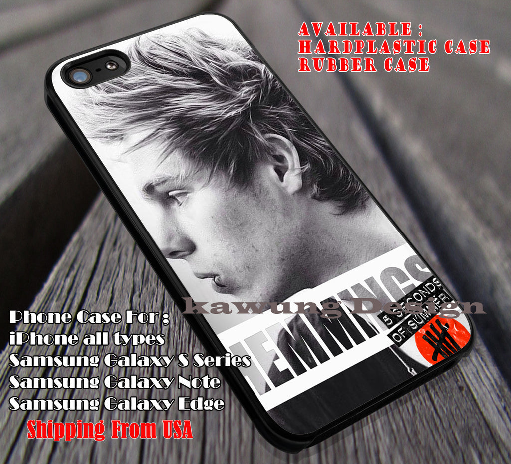 Cute design, luke hemmings, ashton, 5 Second of Summer, case/cover for iPhone 4/4s/5/5c/6/6+/6s/6s+ Samsung Galaxy S4/S5/S6/Edge/Edge+ NOTE 3/4/5 #music #5sos ii - Kawung Design  - 1