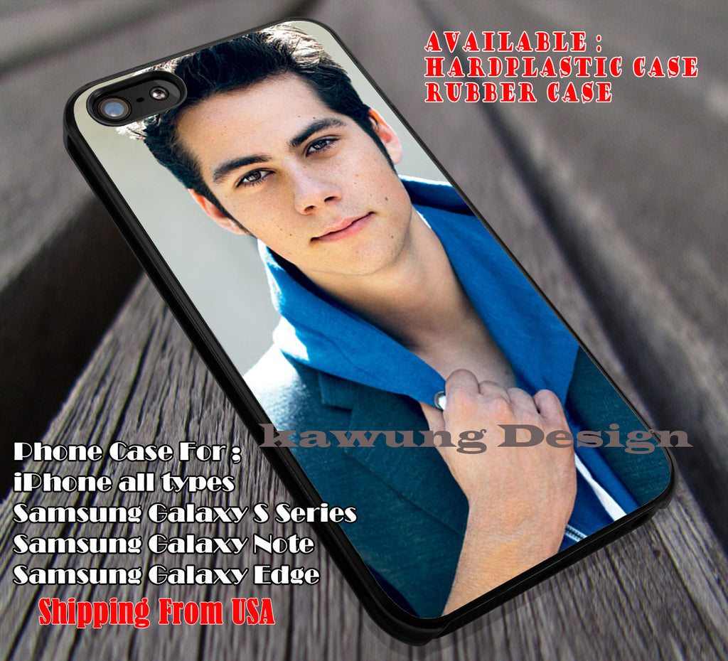 cute in blue, Dylan Obrien, teenwolf, case/cover for iPhone 4/4s/5/5c/6/6+/6s/6s+ Samsung Galaxy S4/S5/S6/Edge/Edge+ NOTE 3/4/5 #music #dob ii - Kawung Design  - 1