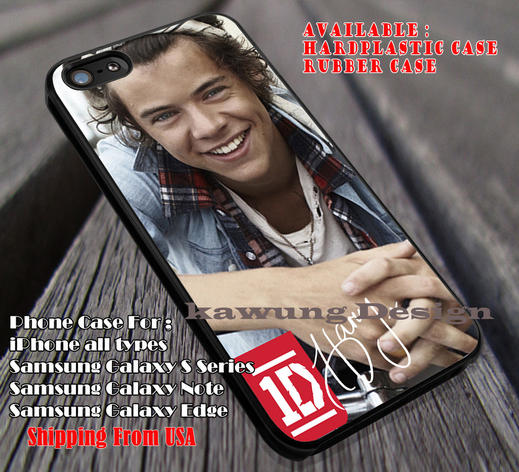 Cute with bandana,harry styles,harry signature,One Direction,Niall Horan case/cover for iPhone 4/4s/5/5c/6/6+/6s/6s+ Samsung Galaxy S4/S5/S6/Edge/Edge+ NOTE 3/4/5 #music #1d ii - Kawung Design  - 1