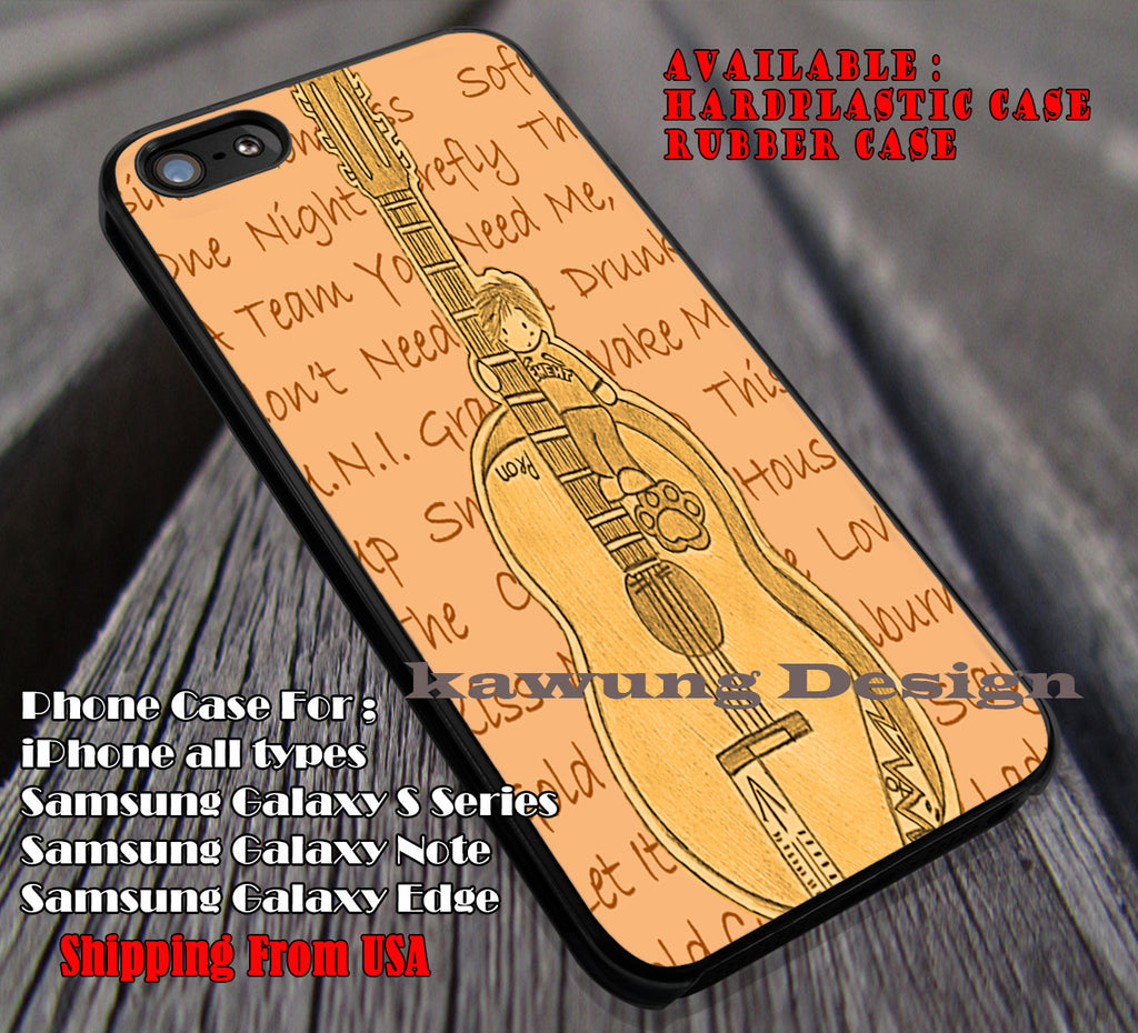 Ed lyric quotes art guitar,  ed sheeran, case/cover for iPhone 4/4s/5/5c/6/6+/6s/6s+ Samsung Galaxy S4/S5/S6/Edge/Edge+ NOTE 3/4/5 #music #eds ii - Kawung Design  - 1