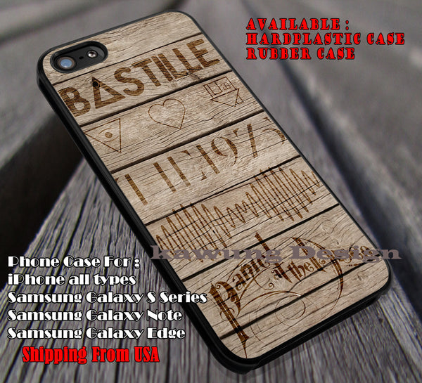 Favorite bands on wood, bastille, Panic at the Disco, arctic monkeys, bastille, case/cover for iPhone 4/4s/5/5c/6/6+/6s/6s+ Samsung Galaxy S4/S5/S6/Edge/Edge+ NOTE 3/4/5 #music #bst #arc #PATD ii - Kawung Design  - 1