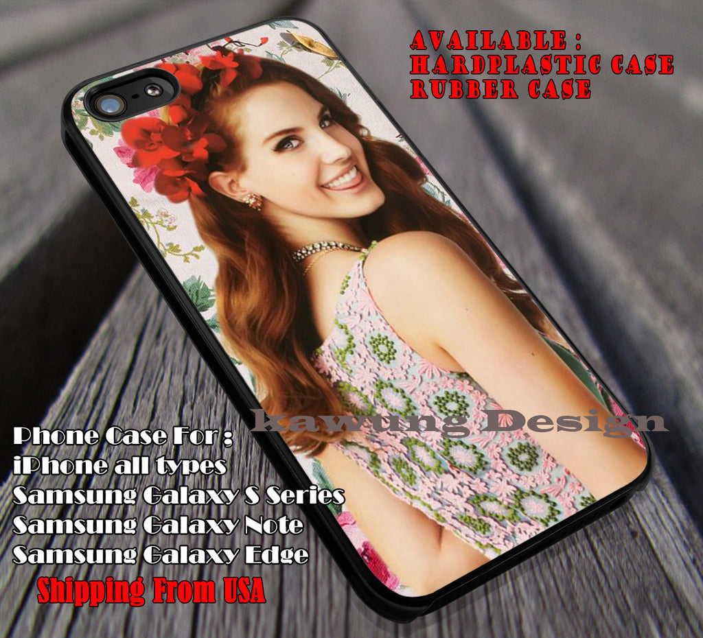Flowers beauty, flowers vintage, lana del rey, case/cover for iPhone 4/4s/5/5c/6/6+/6s/6s+ Samsung Galaxy S4/S5/S6/Edge/Edge+ NOTE 3/4/5 #music #lana ii - Kawung Design  - 1