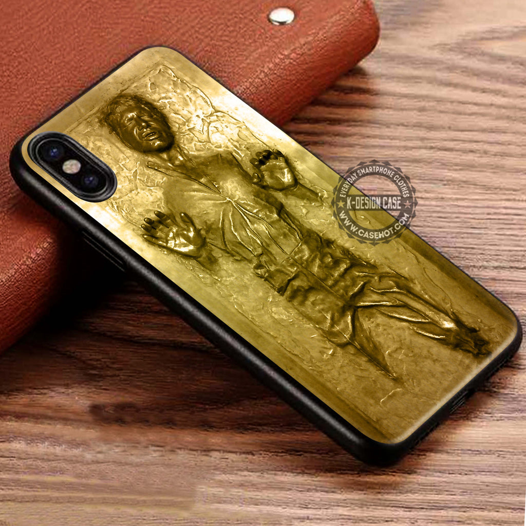 Golden Carbonited Man Star Wars Han Solo iPhone X Case