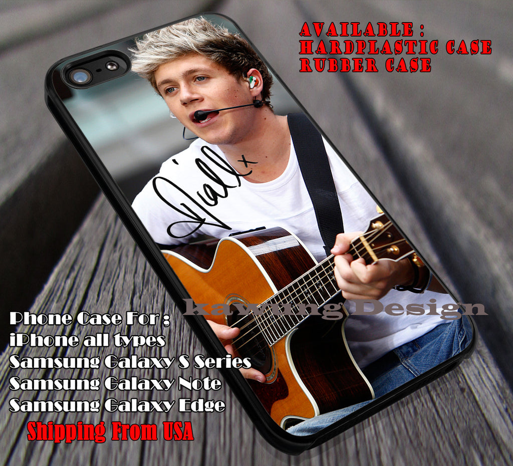 Guitar perform and signature,niall horan,one direction,niall signature,1D case/cover for iPhone 4/4s/5/5c/6/6+/6s/6s+ Samsung Galaxy S4/S5/S6/Edge/Edge+ NOTE 3/4/5 #music #1d ii - Kawung Design  - 1