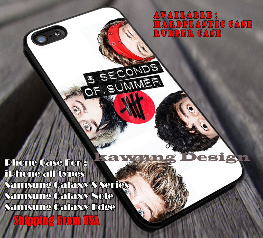 Half head, 5sos, calum, mikey, ash, luke, 5 Second of Summer, case/cover for iPhone 4/4s/5/5c/6/6+/6s/6s+ Samsung Galaxy S4/S5/S6/Edge/Edge+ NOTE 3/4/5 #music #5sos ii - Kawung Design  - 1