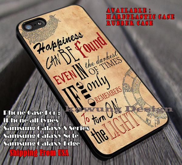 Happiness on Paper Quote | Harry Potter | Hogwarts iPhone 6s 6 6s+ 6plus Cases Samsung Galaxy s5 s6 Edge+ NOTE 5 4 3 #movie #HarryPotter ii - Kawung Design  - 1