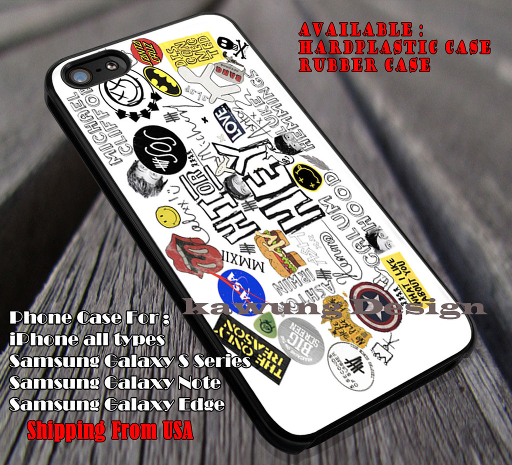 Hit lyrics cute collage, 5sos ,fan art, 5 Second of Summer, case/cover for iPhone 4/4s/5/5c/6/6+/6s/6s+ Samsung Galaxy S4/S5/S6/Edge/Edge+ NOTE 3/4/5 #music #5sos ii - Kawung Design  - 1