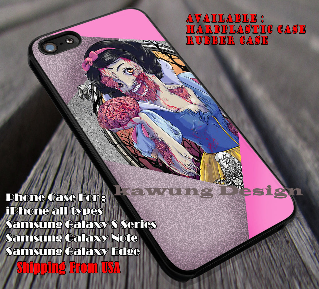 Snow White Zombie, case/cover for iPhone 4/4s/5/5c/6/6+/6s/6s+ Samsung Galaxy S4/S5/S6/Edge/Edge+ NOTE 3/4/5 #cartoon #disney #animated #SnowWhite ii - Kawung Design  - 4