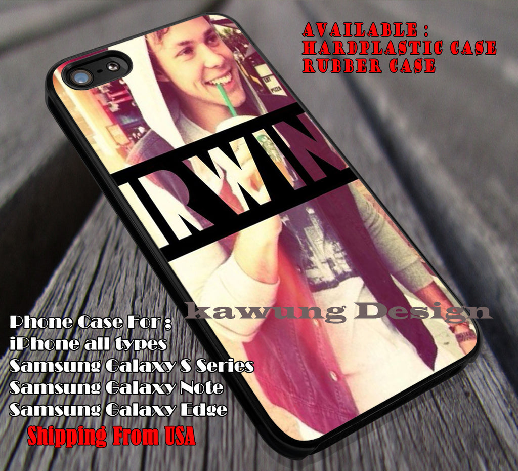 Ashton Irwin Drink case/cover for iPhone 4/4s/5/5c/6/6+/6s/6s+ Samsung Galaxy S4/S5/S6/Edge/Edge+ NOTE 3/4/5 #music #5sos ii - Kawung Design  - 1