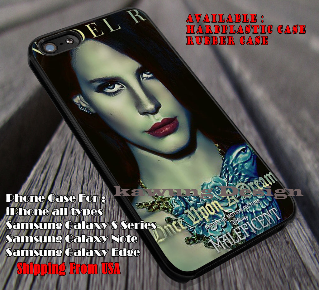 Lana del rey-maleficient, lana del rey, case/cover for iPhone 4/4s/5/5c/6/6+/6s/6s+ Samsung Galaxy S4/S5/S6/Edge/Edge+ NOTE 3/4/5 #music #lana ii - Kawung Design  - 1