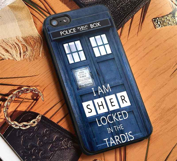I am Sherlocked Tardis iPhone 6s 6 6s+ 5c 5s 4s 4 Cases #movie #supernatural #superwholock #sherlock #doctorWho lk - Kawung Design  - 1