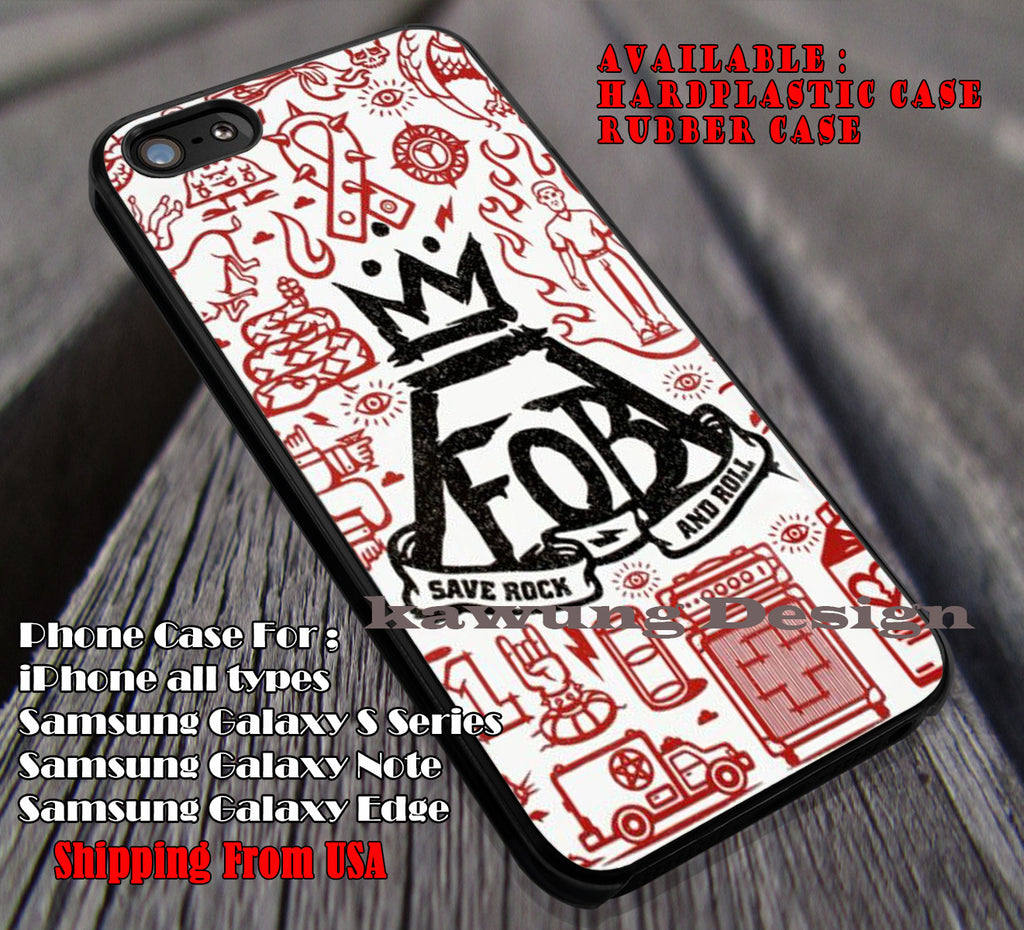 logo art in collage, FOB, fall out boy, case/cover for iPhone 4/4s/5/5c/6/6+/6s/6s+ Samsung Galaxy S4/S5/S6/Edge/Edge+ NOTE 3/4/5 #music #fob ii - Kawung Design  - 1