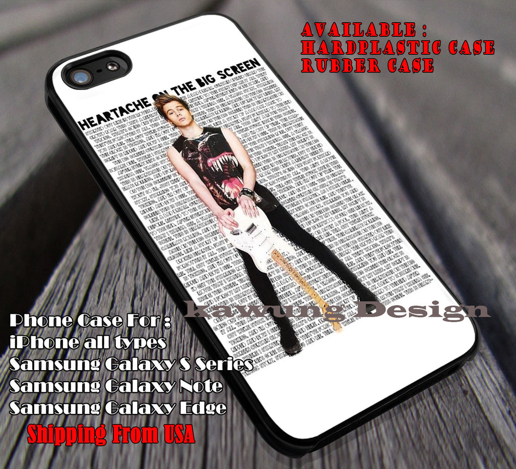Luke hemmings , heartache on the big screen, 5sos, 5 Second of Summer, case/cover for iPhone 4/4s/5/5c/6/6+/6s/6s+ Samsung Galaxy S4/S5/S6/Edge/Edge+ NOTE 3/4/5 #music #5sos ii - Kawung Design  - 1