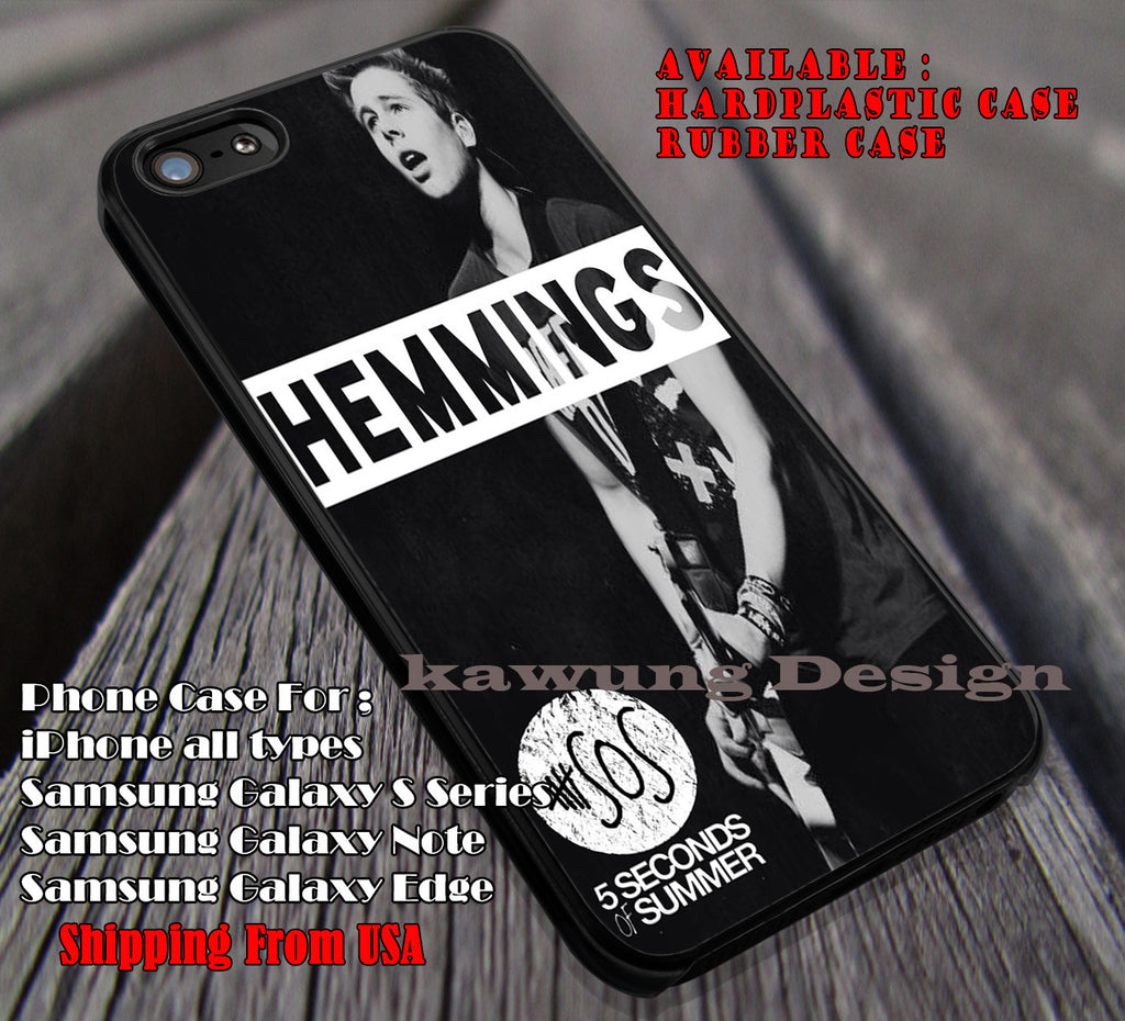 Luke Hemmings 5 Second of Summer case/cover for iPhone 4/4s/5/5c/6/6+/6s/6s+ Samsung Galaxy S4/S5/S6/Edge/Edge+ NOTE 3/4/5 #music #5sos ii - Kawung Design  - 1