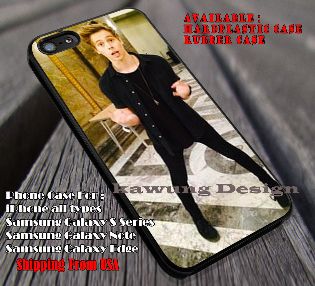 Luke hemmings in australian embassy, 5sos, 5 Second of Summer, case/cover for iPhone 4/4s/5/5c/6/6+/6s/6s+ Samsung Galaxy S4/S5/S6/Edge/Edge+ NOTE 3/4/5 #music #5sos ii - Kawung Design  - 1