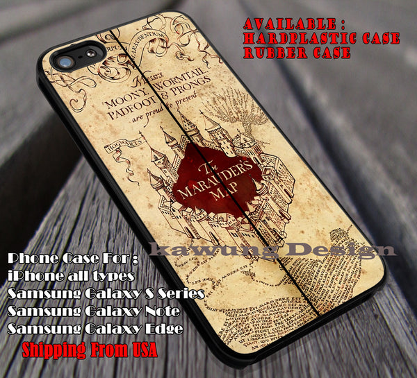 Map Cover | Harry Potter | Marauders Map iPhone 6s 6 6s+ 6plus Cases Samsung Galaxy s5 s6 Edge+ NOTE 5 4 3 #movie #HarryPotter ii - Kawung Design  - 4
