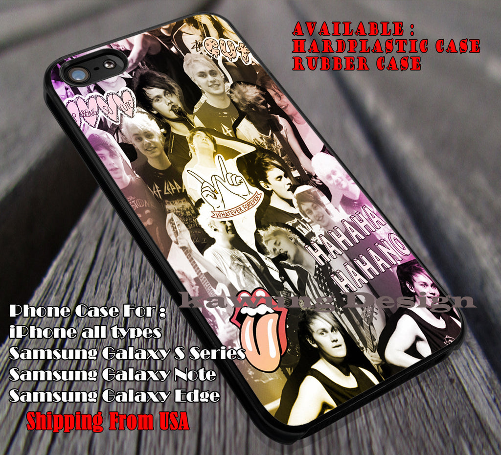 Michael clifford collage, mikey, calum hood, luke hemmings, 5sos, 5 Second of Summer, case/cover for iPhone 4/4s/5/5c/6/6+/6s/6s+ Samsung Galaxy S4/S5/S6/Edge/Edge+ NOTE 3/4/5 #music #5sos ii - Kawung Design  - 1