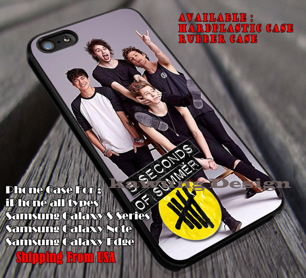 5sos My Lovely Cute Band iPhone 6s 6 plus 5s 5c 5 Case Samsung Galaxy S5 S6 Edge+ NOTE 5 Cover #5sos ii - K-Designs