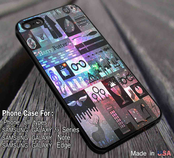 Nebula Galaxy Collage Harry Potter Spells Collage iPhone 6s 6plus 6s+ 5s 5c 4s Cases Samsung Galaxy s5 s3 s4 s6 Edge+ NOTE 5 4 3 2 Covers #movie #HarryPotter ii - Kawung Design  - 1