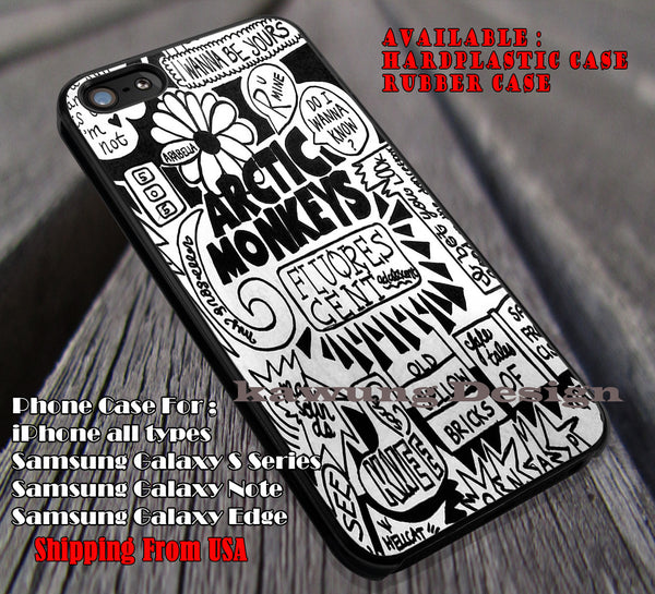 On paper collage quote lyric, punk band, arc, arctic monkeys, case/cover for iPhone 4/4s/5/5c/6/6+/6s/6s+ Samsung Galaxy S4/S5/S6/Edge/Edge+ NOTE 3/4/5 #music #arc #cartoon ii - Kawung Design  - 1